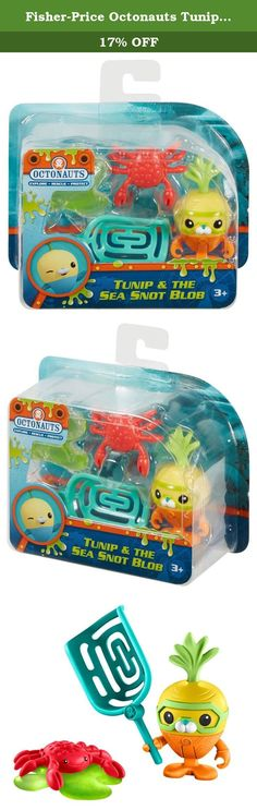 Fisher-Price Octonauts Tunip & the Sea Snot Blob. It's slime time! When a crab becomes stuck in a slimy sea snot blob, it's Tunip to the rescue! This fun figure pack comes with Tunip, a crab, a rescue net, and a sticky blob.