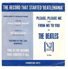 THE BEATLES - VJ BEATLEMANIA Promo Sleeve + VJ 581 Promo 45 - ALL ORIGINAL RARE