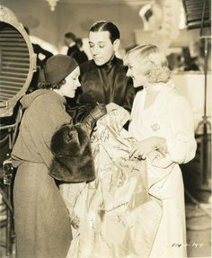 Gloria Swanson, George Raft & Carole Lombard, on set of Bolero,1934