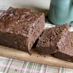 Gluten-Free Vegan Chocolate Zucchini Bread Recipe #vegan # bread #recipe