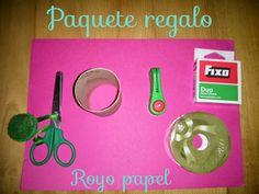 Crochet y demos: Caja para regalo con royo de papel  #empqtdbonito