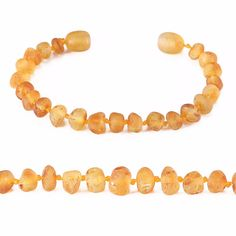 Baltic Amber Teething Bracelet for Baby (5.5 Inches) - Simple Package - 10 Colors