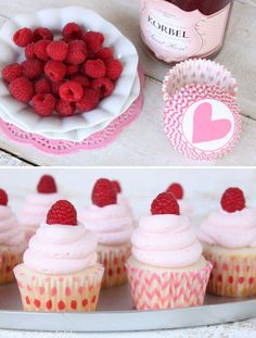 Champagne and Raspberry Cupcakes | Community Post: 19 Valentine's Day Treats That'll Love You More Than A Boyfriend Ever...