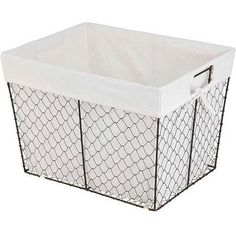 for the black pipe shelves on the ground.  Chicken Wire Basket, Rustic Espresso - Walmart.com