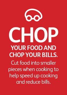 Chop your food and chop your bills