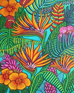 Tropical Gems, 40x50 my latest painting