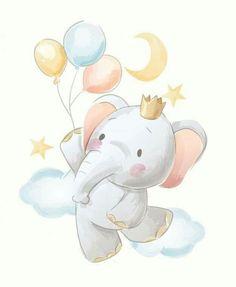 Cute cartoon elephant and balloons illustration Premium Vector Premium Vector Baby Animal Drawings, Cute Drawings, Cartoon Elephant Drawing, Cute Elephant Cartoon, Ballon Illustration, Elephant Illustration, Baby Animals, Cute Animals, Safari Animals