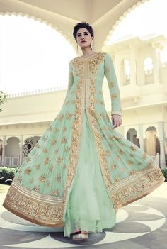 Looking for latest designer anarkali suits online? Peachmode brings to you a wide range of anarkali suits designs at best price. Get latest designer Anarkali Suits for women at Peachmode. Anarkali Dress, Anarkali Suits, Pakistani Dresses, Indian Dresses, Indian Outfits, Long Anarkali, Cotton Anarkali, Lehenga Choli Designs, Bridal Lehenga Choli