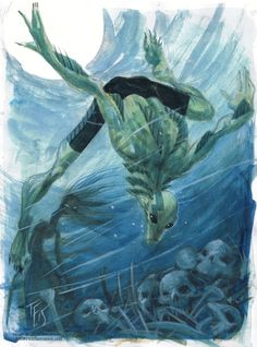 Abe Sapien by Tom Fowler *