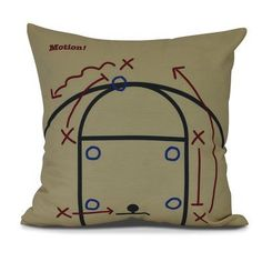 "Zoomie Kids Bauer Motion! Geometric Outdoor Throw Pillow Size: 18"" H x 18"" W, Color: Gold"