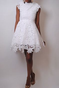 white crochet lace wedding dress bridal gowns rehearsal civil