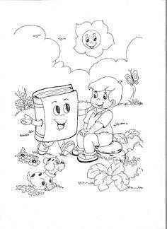 ...Το Νηπιαγωγείο μ' αρέσει πιο πολύ.: Παγκόσμια ημέρα παιδικού βιβλίου - Σελιδοδείκτες, πίνακες ζωγραφικής, πληροφορίες. Science Activities, Activities For Kids, Colouring Pages, Coloring Books, Grandparents Day Crafts, Disney Cross Stitch Patterns, School Clipart, Human Drawing, Kids English