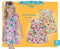 #FofuraDoDia  Sua menina vai amar esse vestidinho mamãe! 😍 Super fofo, ele espalha muita vida com as suas flores cheias de cor.  Sua gatinha ainda mais linda! <3   #PrimaveraVerãoPullaBulla