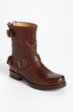 Good for kid ferrying, comfortable, but is it too manly? Frye 'Veronica' Back Zip Short Boot available at #Nordstrom