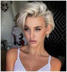 Looking for latest pixie haircuts for short hair? In this post we have compiled our latest pixie haircuts for short blonde haircuts to give bold and sexy hair looks. Previous Post Next Post Blonde Pixie Haircut, Pixie Haircut Styles, Short Blonde Haircuts, Cool Short Hairstyles, Cute Short Haircuts, Pixie Hairstyles, Pixie Haircuts, Amazing Hairstyles, Bold Haircuts