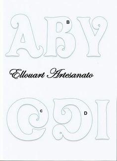 Letras Alphabet Letter Crafts, Alphabet Templates, Hand Lettering Alphabet, Calligraphy Alphabet, Alphabet And Numbers, Printable Alphabet, Letras Abcd, Bubble Letter Fonts, Drawing Letters