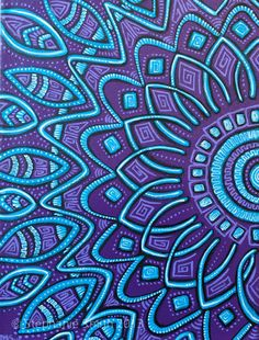 "Original Mandala Purple Art Painting ""Expansion"" by visionary artist Stephanie ""biffybeans"" Smith Mandala Painting, Dot Painting, Mandala Art, Whatsapp Wallpaper, Purple Art, Teal, Visionary Art, Aboriginal Art, Copics"