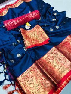 Traditional Cotton Silk Jacquard Woven Sarees from Stf Store Tussar Silk Saree, Soft Silk Sarees, Half Saree Designs, Saree Blouse Designs, Fancy Sarees, Party Wear Sarees, Designer Silk Sarees, Sari Fabric, Saree Dress