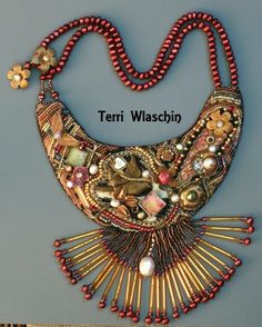 Retro Chic Necklace by Terri Wlaschin  - featured on Jewelry Making Journal