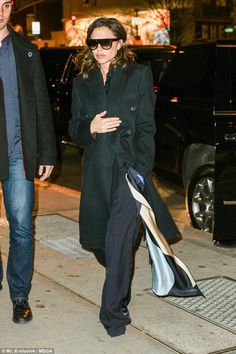 Stateside: She made her way to the store following a sushi dinner, after flying in from London
