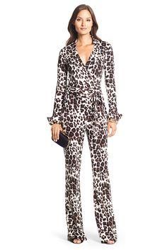 Cookie Lyon (Taraji P. Henson) wore a Diane Von Furstenberg Silk Jersey Wrap Snow Cheetah Large Jumpsuit on #EmpireFOX (1 x 6)