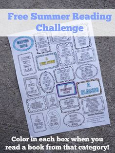 Free printable challenge to inspire you (and your kids) to try new books this summer!