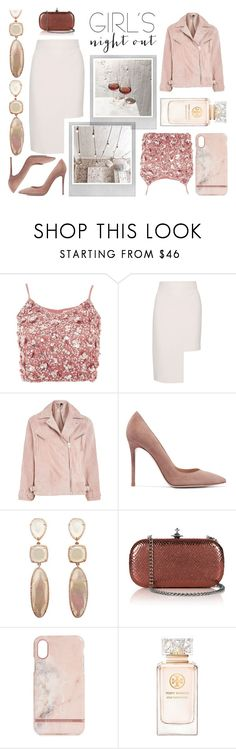 """""""Let's grab a drink !"""" by chloeya ❤ liked on Polyvore featuring Lace & Beads, Polaroid, Cushnie Et Ochs, Topshop, Gianvito Rossi, Vivienne Westwood, Richmond & Finch and Tory Burch"""
