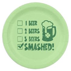 St Patrick's Day Funny Beer Drinking Paper Plate - st patricks day gifts Saint Patrick's Day Saint Patrick Ireland irish holiday party