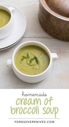 This cream of broccoli soup is delicious, and making it gives you the satisfaction of turning a large amount of broccoli into a luscious and creamy soup.