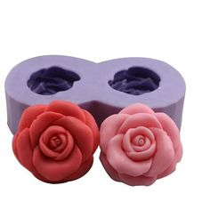 Resin Obsession - Double rose Flower silicone mold