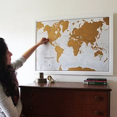 Scratch the World® - scratch off places you travel map print! - detailed cartography - 33.11 x 23.39 inches: Amazon.ca: Office Products