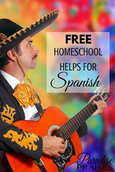 FREE Homeschool Helps for Spanish Class! via ParadisePraises.com