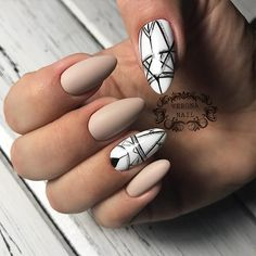 18 Beautiful White Nails Designs for Every Day ★ Geometric White Nails Picture 1 ★ See more: http://glaminati.com/white-nails-designs/ #whitenails #whitenailsdesigns