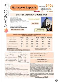 Marruecos Imperial 8ds/7nts en MP desde 340 € - Incluye salidas Semana Santa ultimo minuto - http://zocotours.com/marruecos-imperial-8ds7nts-en-mp-desde-340-e-incluye-salidas-semana-santa-ultimo-minuto/