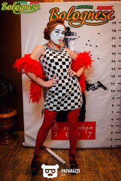 Mime Makeup, Female Clown, Clowning Around, Clowns, Peplum Dress, Carnival, Hair Beauty, Dresses, Fashion