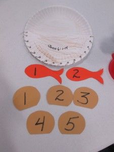 Paper plate craft activity for the Bible story of Jesus feeding the 5000 (John 6:1-13). This is one of the lessons from Workshop of Wonders, and this would be a good activity for our younger children. #firstpresorangeburgvbs