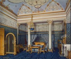 Bedchamber of Empress Alexandra Fyodorovna, Winter Palace, St. Petersburg