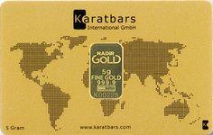 Lingonte de 5 gramos de oro Karatbars