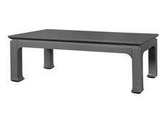 "gray high gloss table 47.5"" long x 24"" wide x 18"" tall"