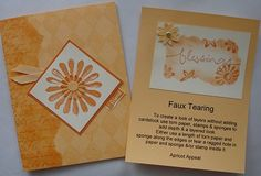 Faux Tearing Technique cards by flowerbugnd1 - Cards and Paper Crafts at Splitcoaststampers
