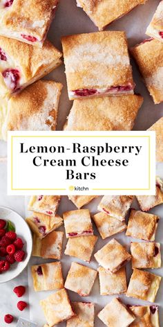 If You Love Lemon Bars, Make These Lemon-Raspberry Cream Cheese Bars ASAP - - An easy recipe for cream cheese bars made with refrigerated crescent roll dough. Cream Cheese Crescent Rolls, Crescent Roll Dough, Cream Cheese Danish, Authentic Mexican Recipes, Brownies, Cream Cheese Recipes, Lemon Cream Cheese Bars, Cream Cheese Desserts, Lemon Bars