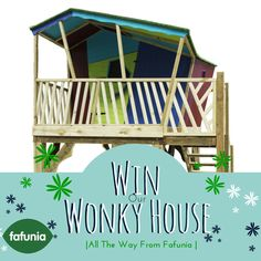 Here we go, we are very excited to be offering YOU the chance to win our very special WoNkY HoUsE. Whether you are a Childcare setting, or thinking that you would love to have WoNkY in your own garden, this is your chance. All you have to do is buy a raffle ticket (available on our website http://www.fafuplay.com/fafunian-lucky-draw.html) and have a little bit of Fairy luck.