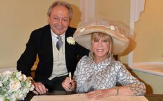 Pattie Boyd and Rod Weston at their wedding at Chelsea Registry Office, Chelsea Old Town Hall, King's Road. 3rd time lucky i hope.