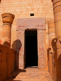 Entrance to a room inside of the Hatshepsut Temple. Deir el-Bahri, Egypt
