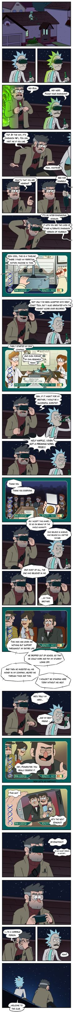 Crossover Rick and Morty & Gravity Falls: