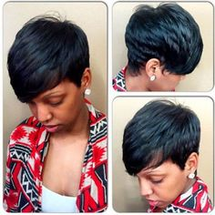 SHARE & Get it FREE | Spiffy Short Pixie Cut Capless Straight Layered Black…