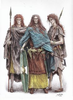 Haleth and guardswomen by TurnerMohan Watch Report Traditional Art / Drawings / Illustration Lotr, Character Concept, Character Design, Vikings, O Silmarillion, Amazonian Warrior, Celtic Warriors, Into The West, Jrr Tolkien