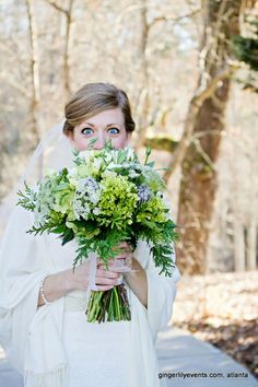 Natural bridal bouquet.  Reception Roswell Mill