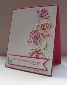 TLC324, CAS118 Colored Flower Garden by nancy littrell - Cards and Paper Crafts at Splitcoaststampers