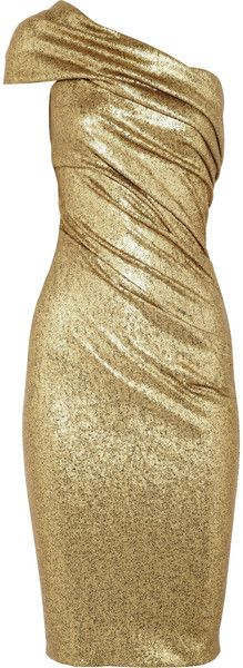 DONNA KARA NYC Sequined Stretch tulle One Shoulder Dress (=)